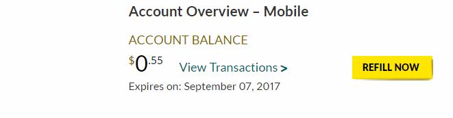 my balance