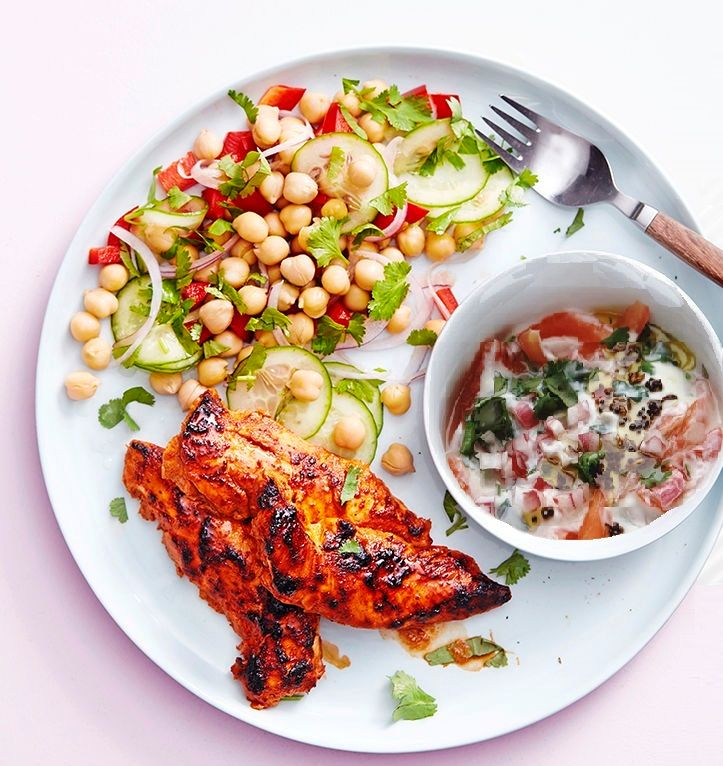 Raita with salad or chicken