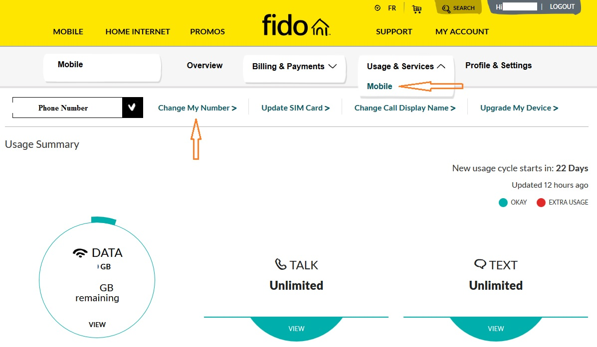 Solved: How to change phone number online - Fido