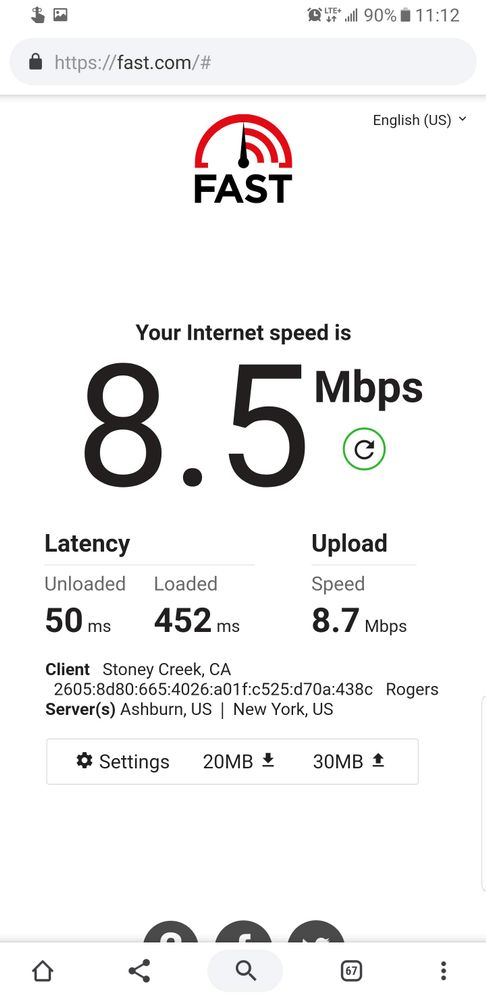 Sometimes speed is low and latency is horrible