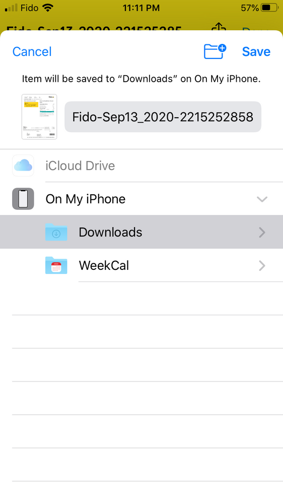 Fido app - Download PDF Bill
