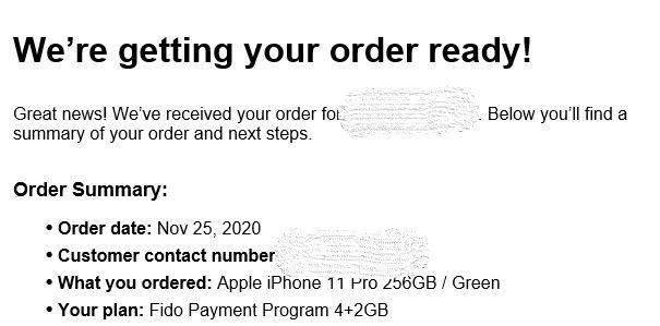 2 - Order Confirmation Email Nov 25