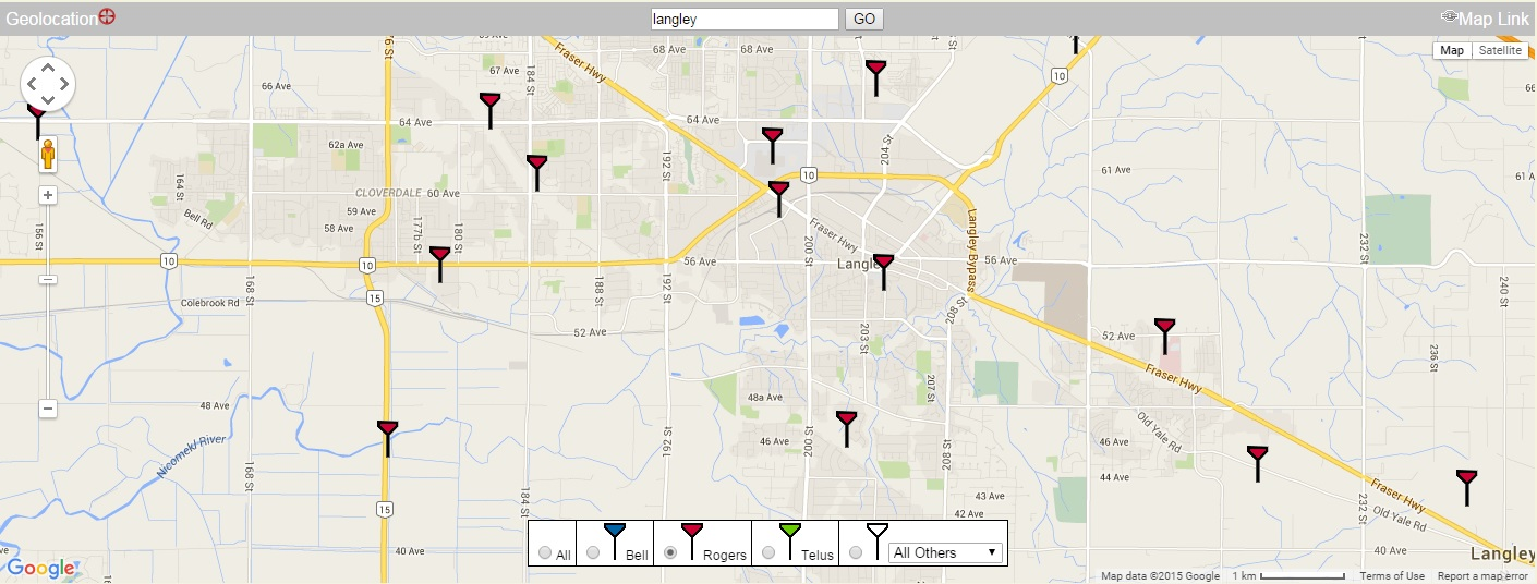 Cell Signal Strength Map on
