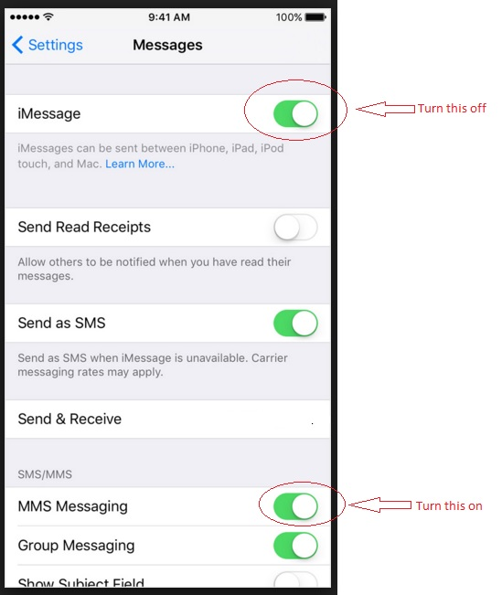 Solved: picture texts not working on Iphone - Fido