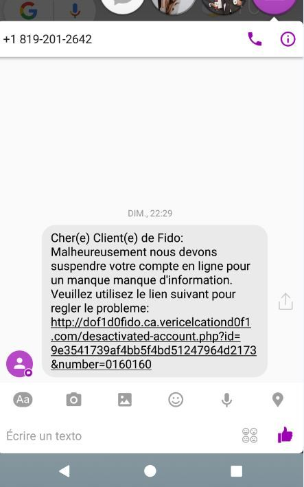 Tentative de phishing...
