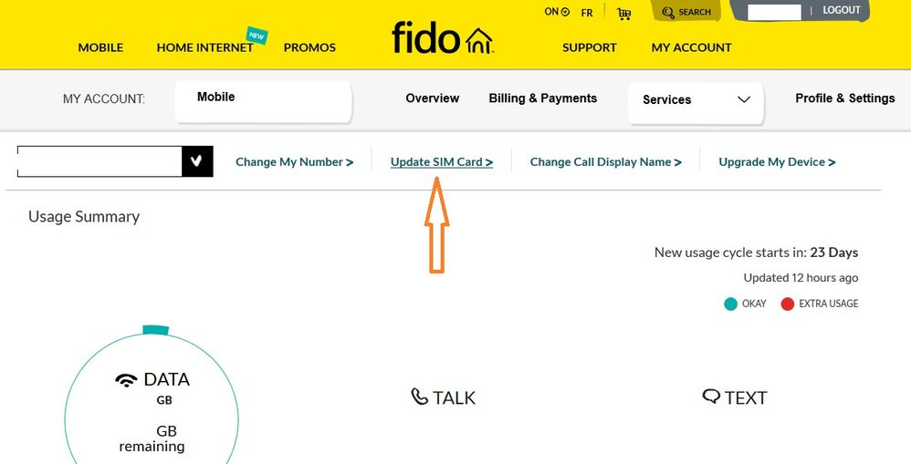 Solved: SIM Card change/activate - Fido