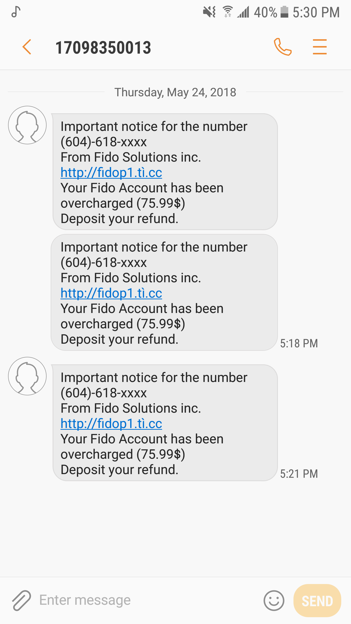Are you receiving scam text messages? Here are 6 t    - Fido