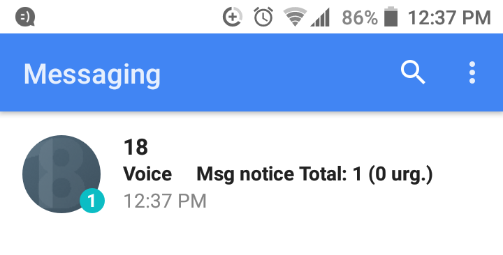 No Voicemail Notification - Fido