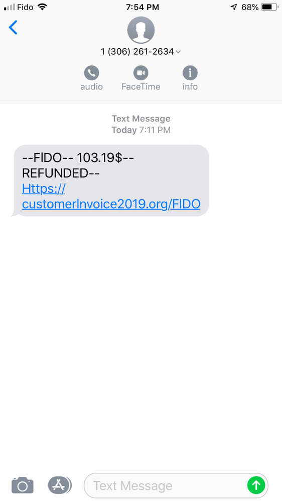 Fideo Text Refund Scam.png
